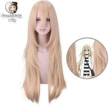 Angels of Death Rachel Gardner Ray Long Straight Blonde Cosplay Wig Costume Synthetic Hair Party Wigs For Women Free Shipping цена 2017