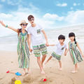 Family Matching Clothes 2017 Summer Cotton T shirt and Short Set Family Look Mother Daughter Dresses Family Clothing