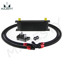 13 ROW AN-10AN L ENGINE TRANSMISSION FIT MINI COOPER R53 OIL COOLER BLACK + FILTER KIT BLACK