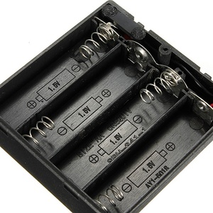 Image 5 - 6V 4 X AA Battery Holder Case Slot Holder Plastic Storage Box With OFF/ON Switch Wires For RC Parts For Output DC 6V