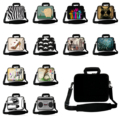 Wholesale Retails New Neoprene 10 12 13 14 15 17 15.6 14.1 Laptop Messenger Carry Bag Beiefcases Cover Cases + Shoulder Strap