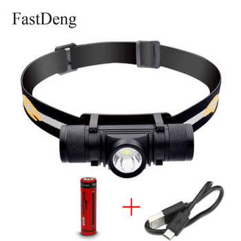Waterproof USB T6 LED Headlamp D10 Headlight Dimming Bicycle Torch Head Flashlight Led Bike Light 1x 18650 Rechargeable Battery - DISCOUNT ITEM  44% OFF All Category