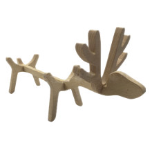 Wooden Wine Holder Rack Adorable Deer Lamp Creative Wine Ornament Home Decor Great Gift(China)