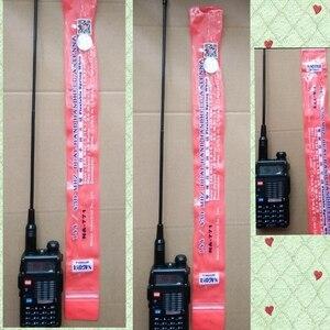 Image 1 - 2 pces 144/430mhz banda dupla nagoya na771 antena sma conector fêmea para baofeng 5r 888s uv82 kenwood walkie talkie antena