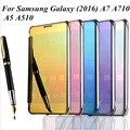 Высокое качество роскошные мода ясно зеркало заднего вида флип-экран чехол для Samsung Galaxy ( 2016 ) A7 A710 A7100 / A5 A510 A5100