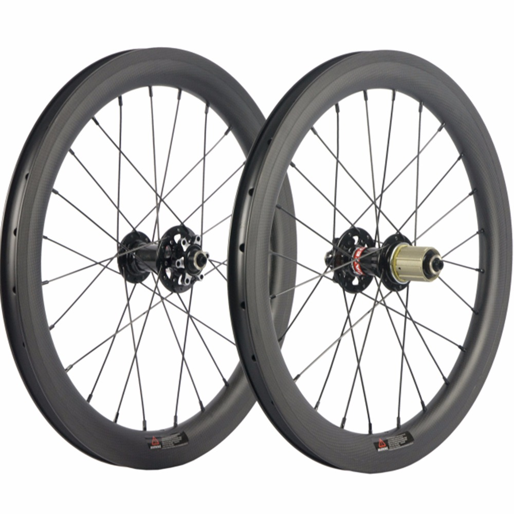 406C <font><b>BMX</b></font> Bike Carbon Wheelset Clincher 25mm Wide U Shpae 38mm Carbon <font><b>Wheels</b></font> <font><b>20</b></font> Inch Chinese Carbon Fiber <font><b>Wheel</b></font> image