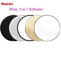 Hanmi Photography Studio Accessories 32 80cm 5 In 1 Portable Collapsible Reflector Photo Studio Light Box