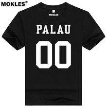 PALAU t shirt diy free custom made name number plw red t-shirt nation flag pw republic belau country college university clothing