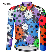 цена на Long Sleeve Winter Cycling Jersey Shirt Tops Mtb Bicycle Clothing Quick Dry Ropa ciclismo Maillot Sport Pro Bike Jersey 6577