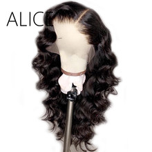 Alice 250% Density Full Lace Human Hair Wigs With Baby Hair Pre Plucked Full Lace Wigs For Women Remy Glueless Brazilian Wigs(China)