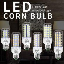 E14 LED Lamp E27 220V LED Bulb SMD 5730 GU10 Corn Bulb 240V Bombillas 28 40 72 108 132 156 189leds Chandelier LED Light For Home zdm qe2785148w16l e27 16w 1500lm 6500k 34 smd 5730 led white light bulb silver white 200 240v