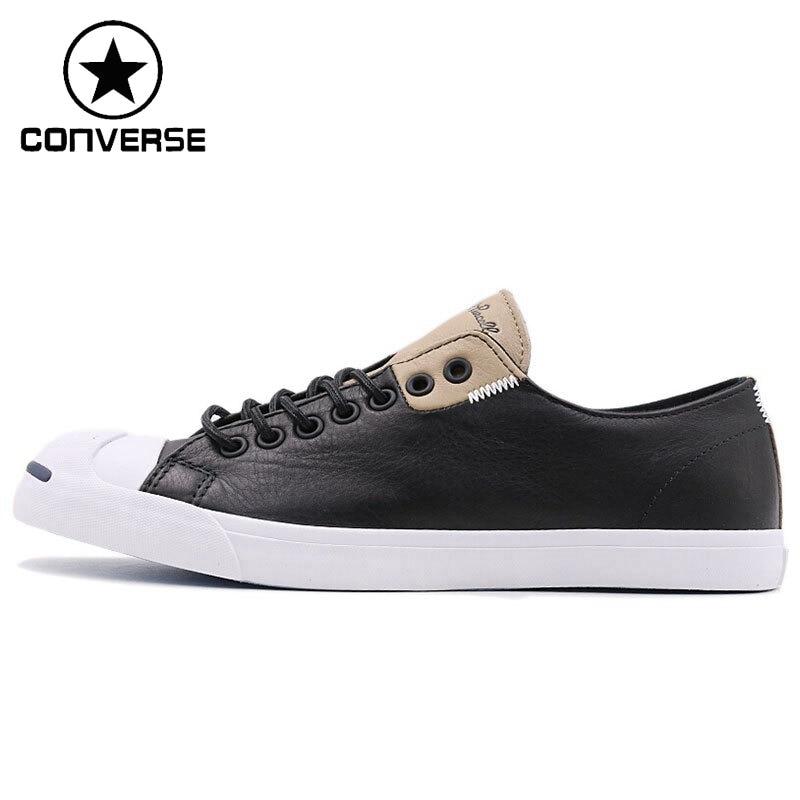 Original New Arrival 2018 Converse Unisex Leather Skateboarding Shoes Canvas Sneakers original converse selene monochrome leather women s skateboarding shoes sneakers
