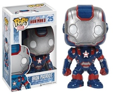 Funko POP Marvel Iron Man 3 Iron Patriot Vinyl Toy Figure Kids Boys Girls Christmas Birthday