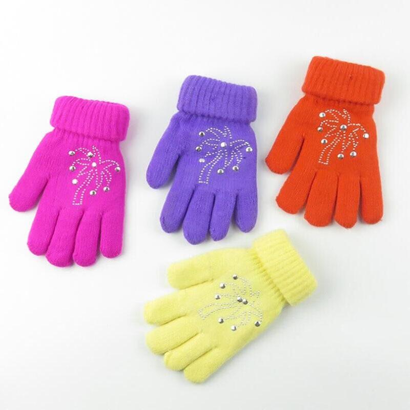 BING YUAN HAO XUAN Hot Sale Cute Thicken Warm Girls Boys Winter Gloves Children