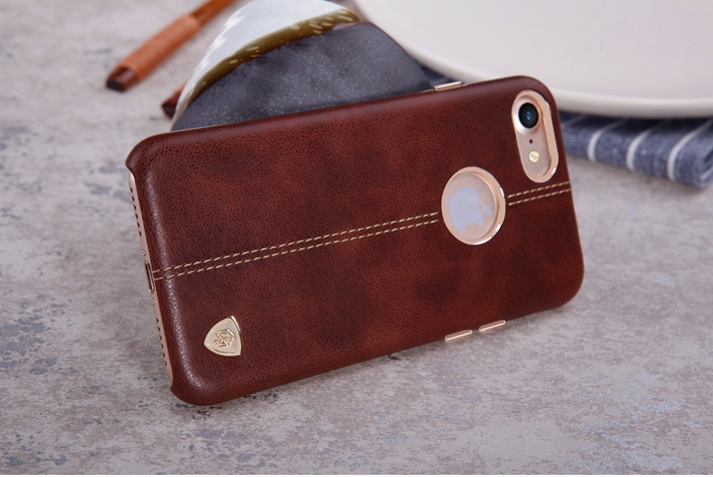 Nillkin Englon PU Leather back Cover Case Vintage lether PC case for iphone 7 case cover ( 4.7) work with magnetic car holder