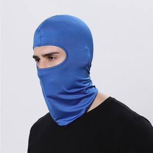Image 4 - Motorcycle Balaclava Full Face Mask Warmer Windproof Breathable Airsoft Paintball Cycling Ski Shield Anti UV Men Sun Hats Helmet