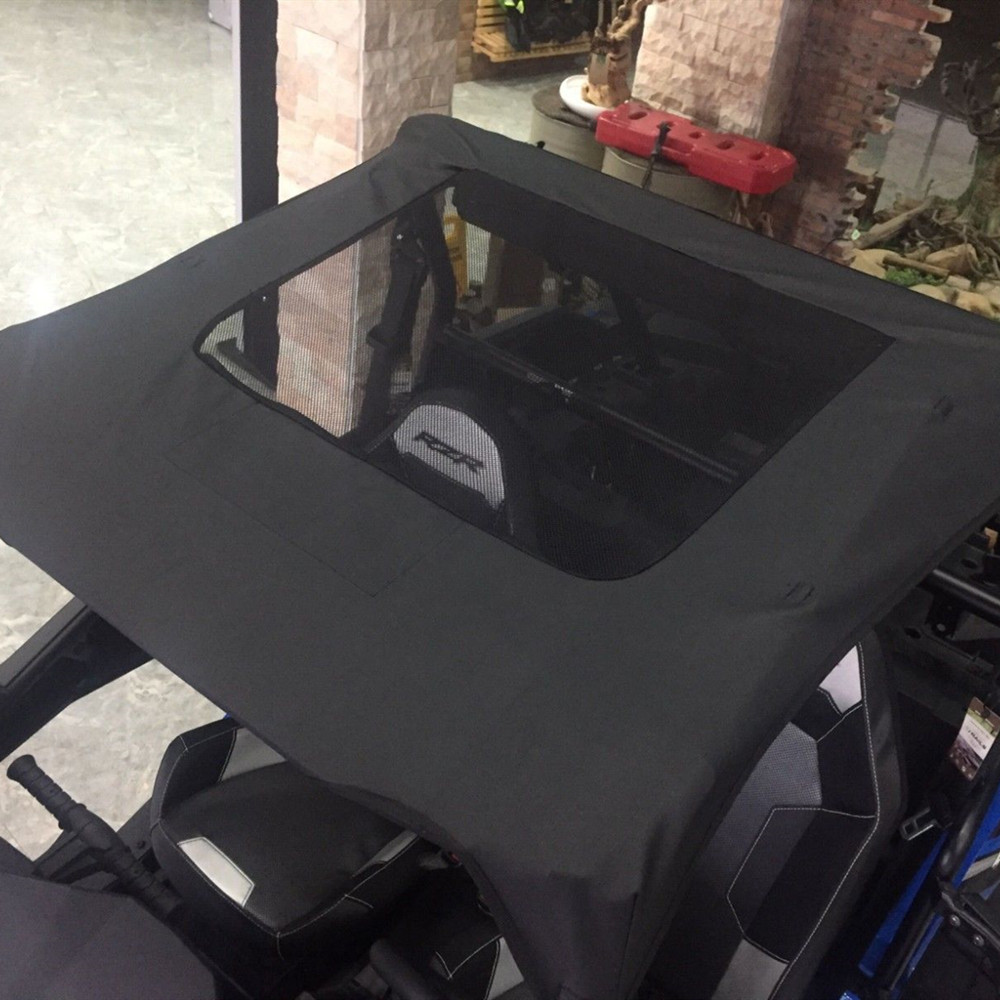 KEMIMOTO Black Soft Roof Top W/ Sun Roof 2 Door UTV For Polaris RZR 900 XP 1000 2014-2019 2015 2016 2017 2018