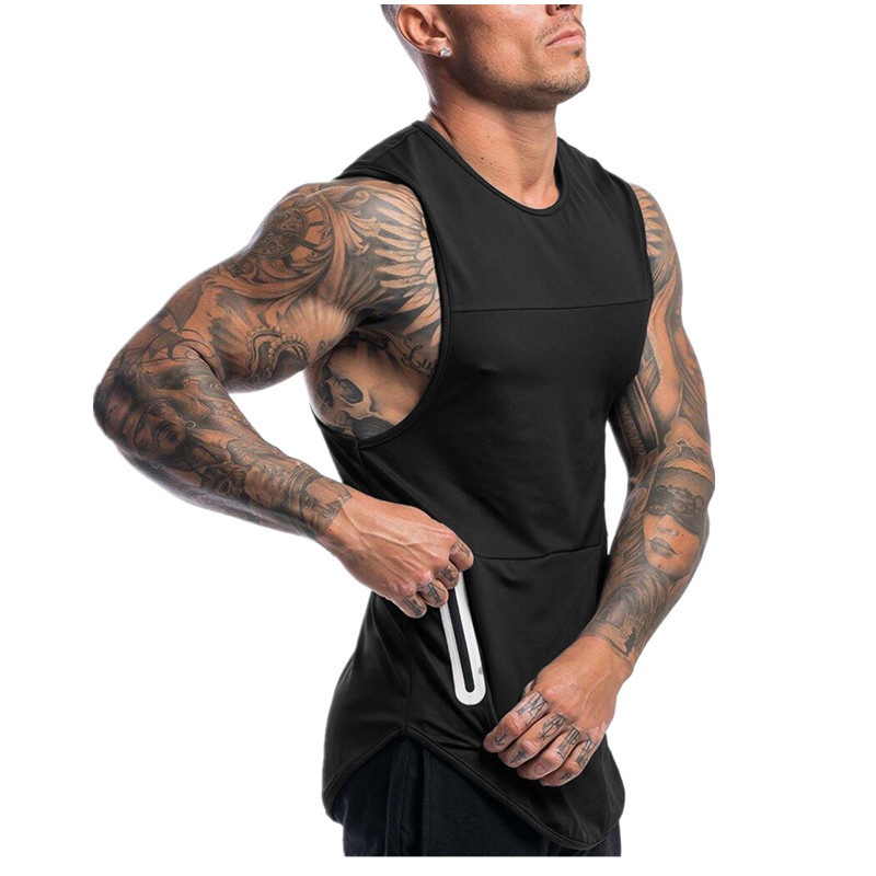 New Men   Tank     Tops   Bodybuilding Stringer Fitness Singlets Gyms Clothing Mens Sleeveless Shirt Vest debardeur homme ropa de hombre