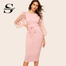 Pencil Dress 2019 Belted