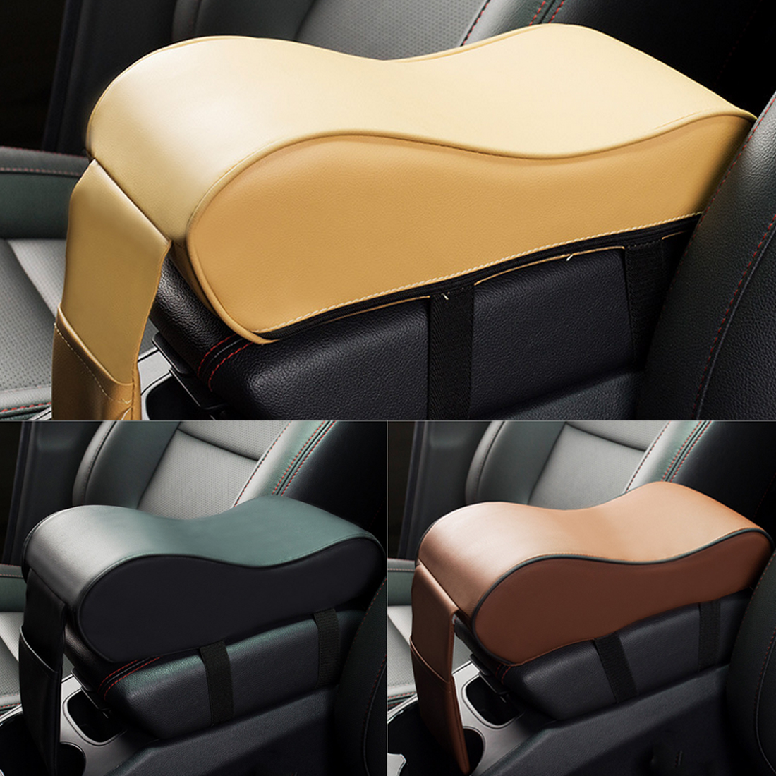 Dewtreetali Car Armrest Box Central Armrest Pad Car Styling Decoration Universal Protective Armrest Box Pad Center Console