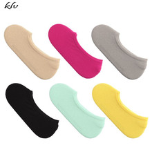 Kids Socks Summer Child Invisible Shallow Super Elstic Short Boat Candy Color for Girls
