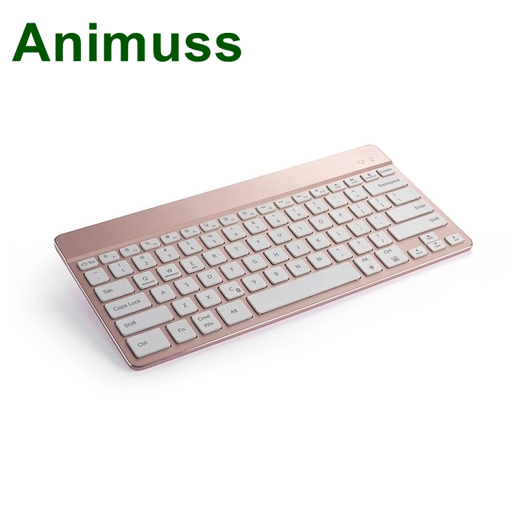 Animuss China factory sale aluminum wireless bluetooth keyboard for IOS for Android for Windows in Keyboards from Computer Office