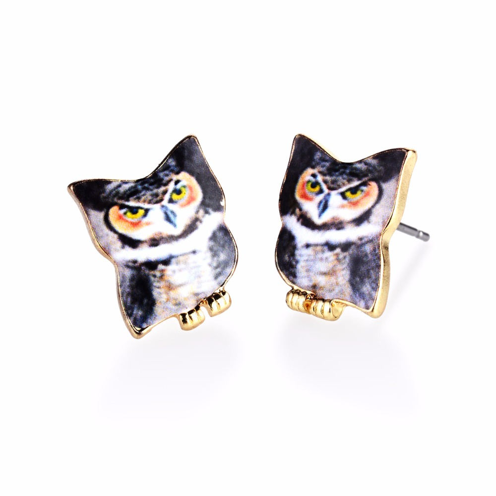 இyiustar Energetic Night Owl Earring for Women Jewelry Oil Painted ...