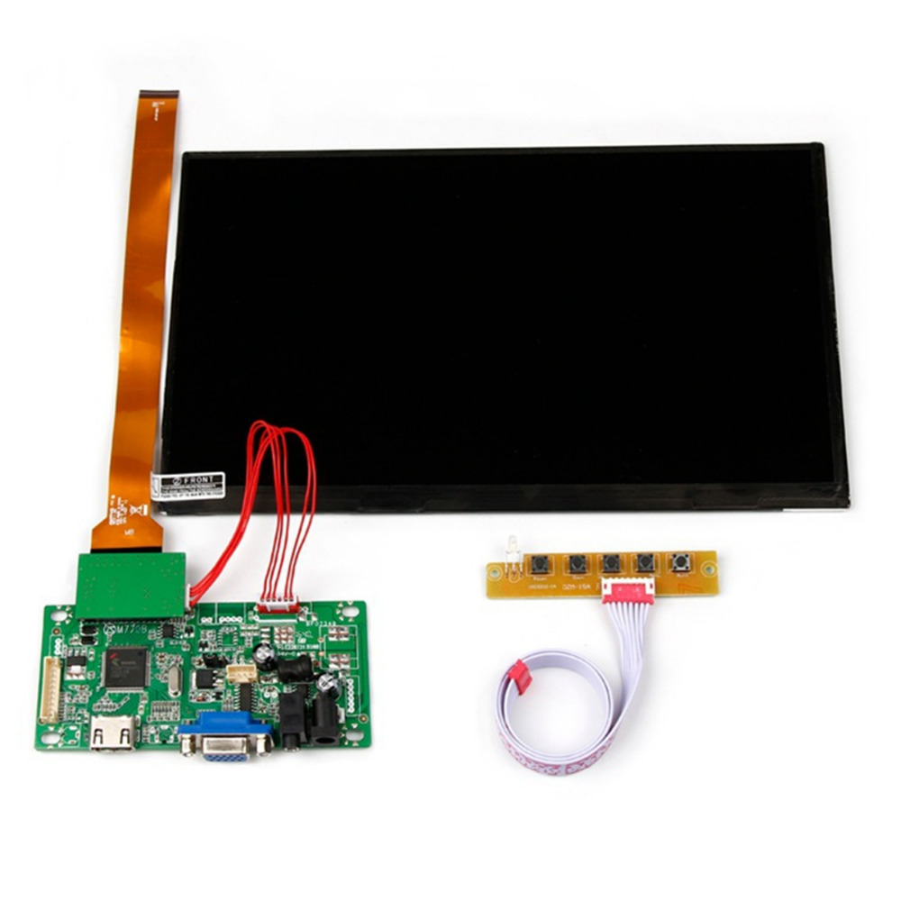 10.1Inch LVDS Port 1920x1080 IPS LCD Display Screen Panel With HDMI &VGA Driver Board Controller Set Kit For Raspberry Pi vga hdmi lcd edp controller board led diy kit for lp116wh6 spa1 lp116wh6 spa2 11 6 inch edp 30 pins 1lane 1366x768 wled ips tft