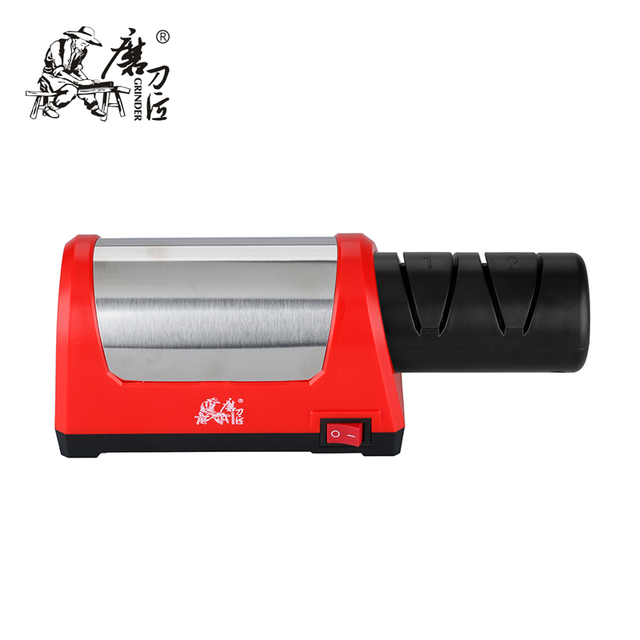 TAIDEA GRINDER Sharpening Stone Two Stages Diamond Kitchen Knife 2slot Electric Steel Ceramic Sharpener