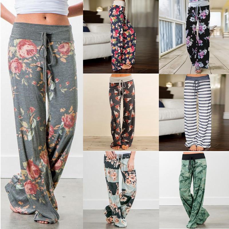 Large Plus Size Palazzo Joggers Women's Pants Female Sports Pants For Women Trousers Wide Leg Pant High Waist Sweatpants Baggy