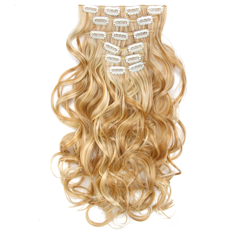 Clever Soowee 24inch Long Curly Black To Gray Women Hair High Tempreture Synthetic Ombre Hair Piece Clip In Hair Extensions Synthetic Clip-in One Piece