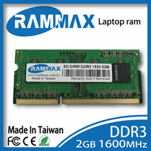 Laptop DDR3 Ram 2GB|4GB|8GB Memory PC3-12800 SO-DIMM1600Mhz Non-ECC 204pin/CL11 high compatible with all motherboard of Laptop
