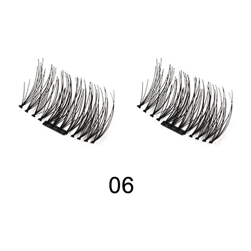 Single Magnetic Eyelashes No Glue Reusable 3D Handmade False Eyelashes Ultra Thin Lightweight H7JP
