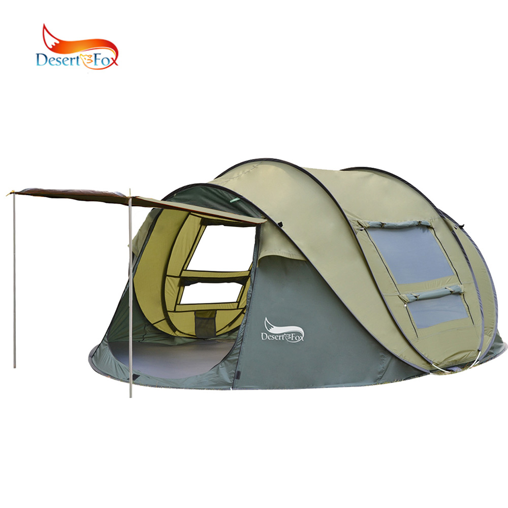 Desert&Fox Automatic Pop-up Tent, 3-4 Person Outdoor Instant Setup Tent 4 Season Waterproof Tent for Hiking, Camping, Travelling otomatik çadır