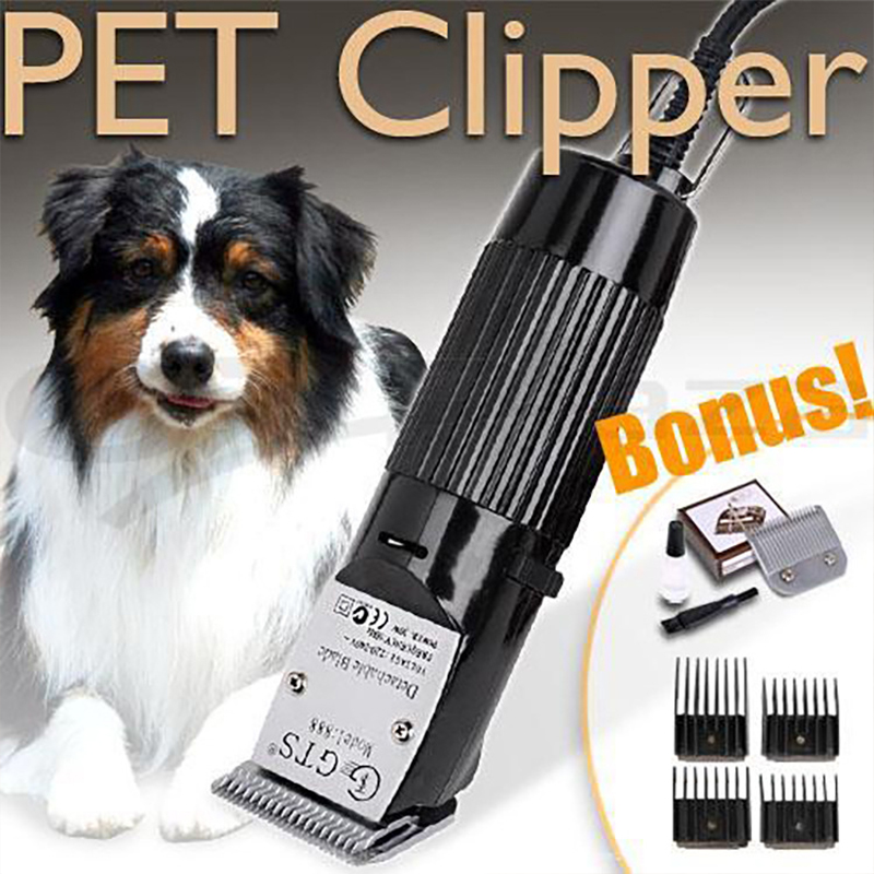 Pet Cat Dog Hair Trimmer High Quality Electrical Clipper Shaver Set Haircut Machine 2019 Professional Grooming Kit Rechargeable in Dog Hair Trimmers from Home Garden