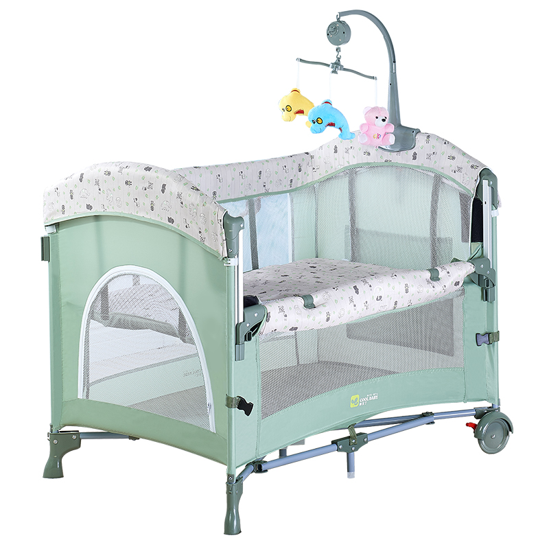 Coolbaby Newborn Bed Docking Crib Foldable Multifunctional