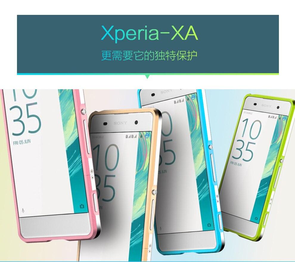 bilder für 10 stücke Für Sony XPERIA XA metallstoßdämpfer, Top qualität Aluminiumstoß Luxury Metallrahmen Für Sony XPERIA XA F3111 F3113 F3115
