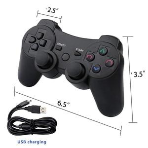Image 5 - 2019 PS3 게임 패드 무선 6 축 이중 충격을위한 충전 케이블이있는 새로운 도착 무선 게임 컨트롤러