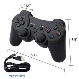 Image 5 - 2019 nuovo arrivo Wireless Controller di Gioco con cavo di ricarica per PS3 gamepad Senza Fili 6 axis Doppia Scossa