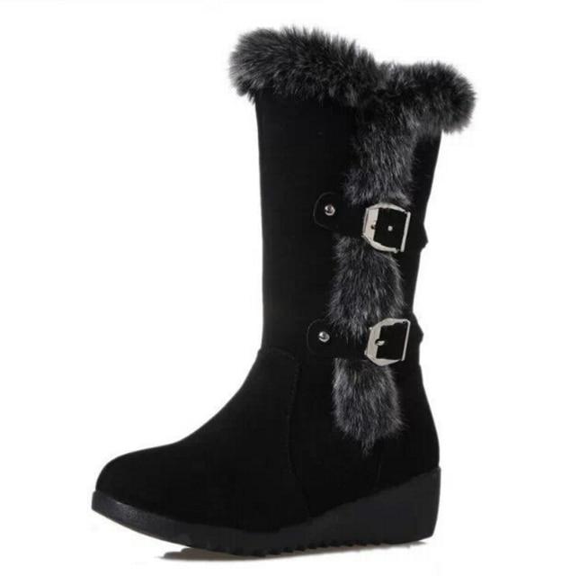 Высокое Качество Женщины Снег Сапоги Зимняя обувь Повседневная Марка Зима обувь Женская Сапоги Плюшевые Теплые Меховые Обувь feminina плоским Хлопок загрузки