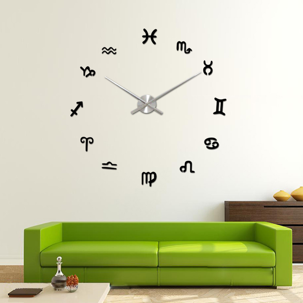 Modern Diy Home Decor modern diy home decor taotown large wall clock mirror surface to