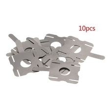 10 шт./18650 литиевых батарей могут быть никелевые точечные сварочные u-образные части соединителя T6 батареи никелированные листы стали