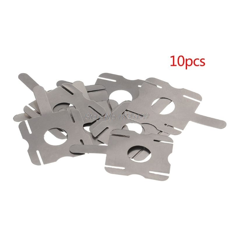 10pcs/18650 Lithium Batteries Can Be Nickel Spot Welding U-shaped Piece Connector T6 Battery Nickel Plating Nickel Sheet Steel