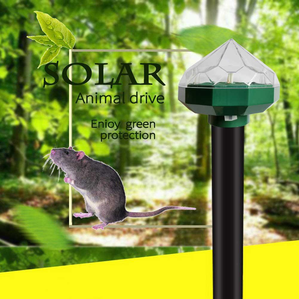 2 шт. солнечная энергия вредителей грызунов ультразвуковой Декор змея дома сад мышь антимоскитная лампа двора цветные светодиодные лампы Алмазный открытый