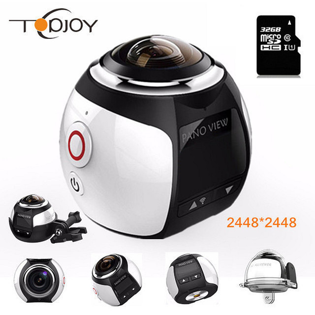 360 Video Camera Wifi Mini Panoramic Camera 2448*2448 Ultra HD Panorama Camera 360 Degree Waterproof Sport Driving Action Camera