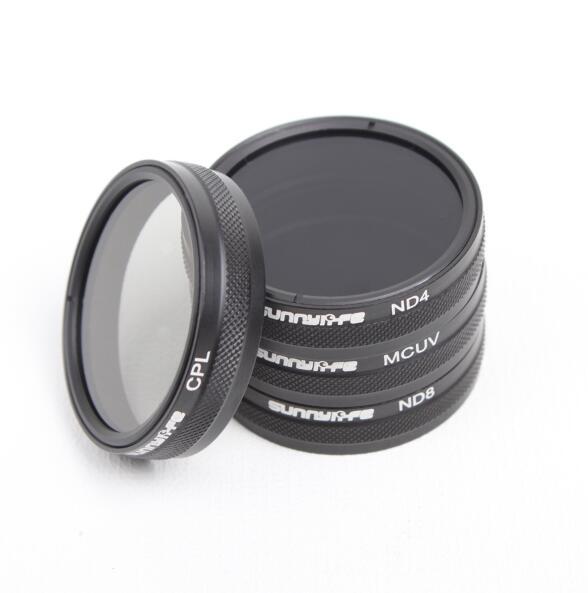 4Pcs/lot for DJI Phantom 3 Phantom 4 Accessories ND4/ND8/MCUV/CPL Lens Filter Phantom 4 Phantom 3 Professional&Advanced&Standard