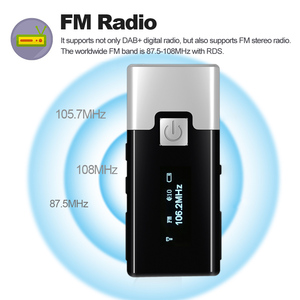 Image 4 - P10 High quality Mini DAB FM Digital Radio Portable Pocket DAB+ Receiver with Earphone LCD Display Rechargeable Battery