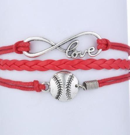 1pc Handmade Bracelet Infinity Softball Charm Custom Mini Order 10 4054 In Bracelets From Jewelry Accessories On Aliexpress