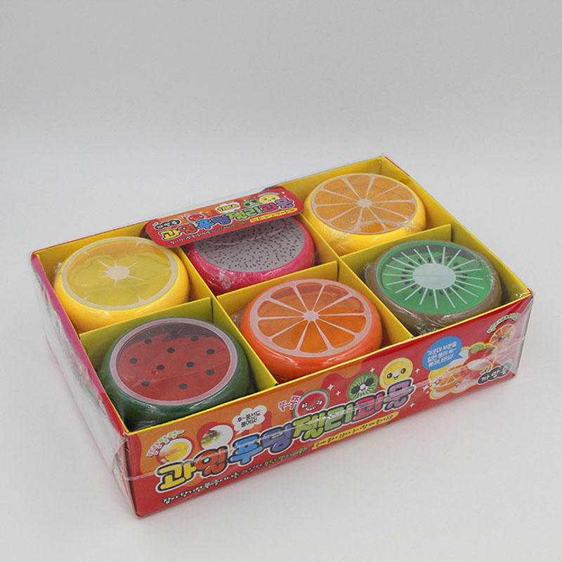 18pcs Fruit Magnetic Colored Clay Mud Kids Baby Fun Toys Crystal Intelligent Hand Gum Plasticine Rubber Playdough Gift Ty0135 Beautiful In Colour Modeling Clay