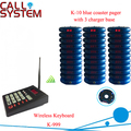 1 teclado 30 convidado de montanha russa de pager 3 charger stand restaurante fila sistema de paginação de 433.92 mhz